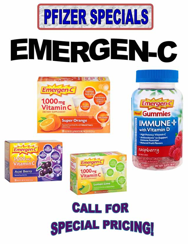 Wholesale Emergen-C Powder and Gummies