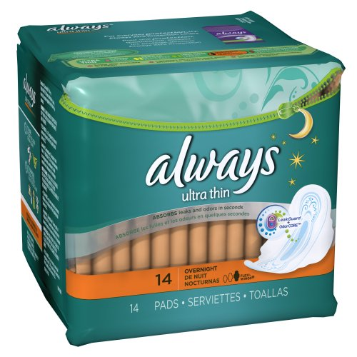 Wholesale Always Ultra Thin Overnight Pads 14 Count